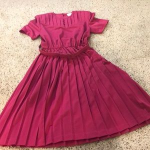 Western pleated dress